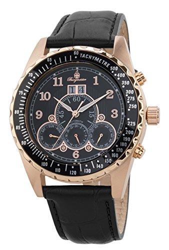 ブルゲルマイスター ドイツ高級腕時計 メンズ Burgmeister Men's Stainless Steel Automatic-self-Wind Watch with Leather Strap, Black, 21 (Model: BM302a-362ブルゲルマイスター ドイツ高級腕時計 メンズ