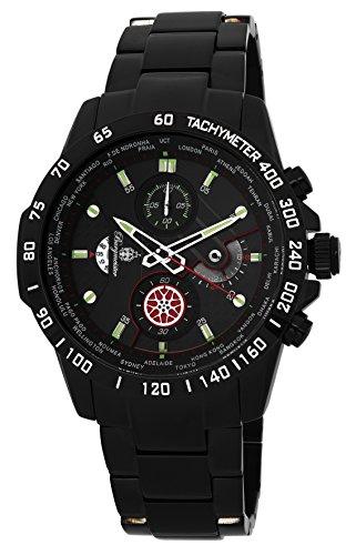 ブルゲルマイスター ドイツ高級腕時計 メンズ 【送料無料】Burgmeister Men's Quartz Stainless-Steel-Plated Casual Watch, Color:Black (Model: BMS01-622)ブルゲルマイスター ドイツ高級腕時計 メンズ