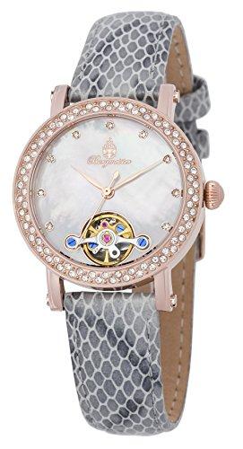 ブルゲルマイスター ドイツ高級腕時計 レディース 【送料無料】Burgmeister Women's Stainless Steel Automatic-self-Wind Watch with Leather Calfskin Strap, Grey, 15 (Model: BM538-380ブルゲルマイスター ドイツ高級腕時計 レディース