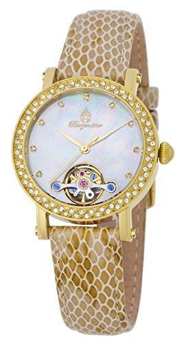 ブルゲルマイスター ドイツ高級腕時計 レディース 【送料無料】Burgmeister Women's Stainless Steel Automatic-self-Wind Watch with Leather Calfskin Strap, Beige, 15 (Model: BM538-280)ブルゲルマイスター ドイツ高級腕時計 レディース
