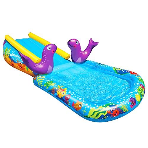 プール ビニールプール ファミリープール オーバルプール 家庭用プール BANZAI Kid Toddler Outdoor Inflatable My First Water Slide and Splash Poolプール ビニールプール ファミリープール オーバルプール 家庭用プール