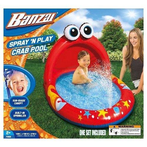 プール ビニールプール ファミリープール オーバルプール 家庭用プール 【送料無料】Child Spray 'N Play Crab Pool (49