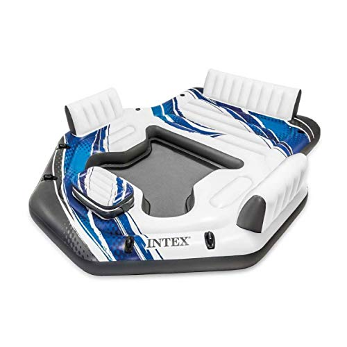 フロート プール 水遊び 浮き輪 【送料無料】Intex 57272EP Adult 5 Seat Inflatable Tropical Island Lounging Pool Float, Blueフロート プール 水遊び 浮き輪