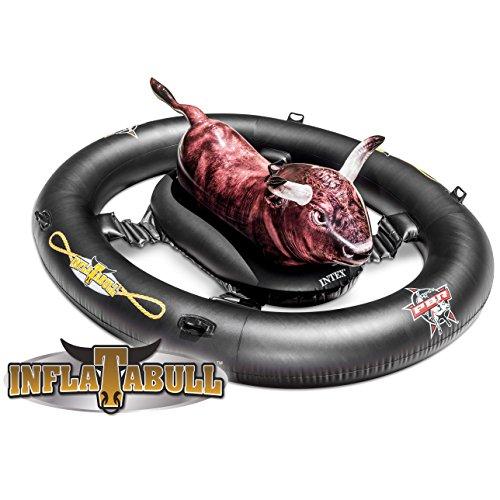 フロート プール 水遊び 浮き輪 【送料無料】Intex Inflat-A-Bull, Inflatable Ride-On Pool Toy with Realistic Printing, 94
