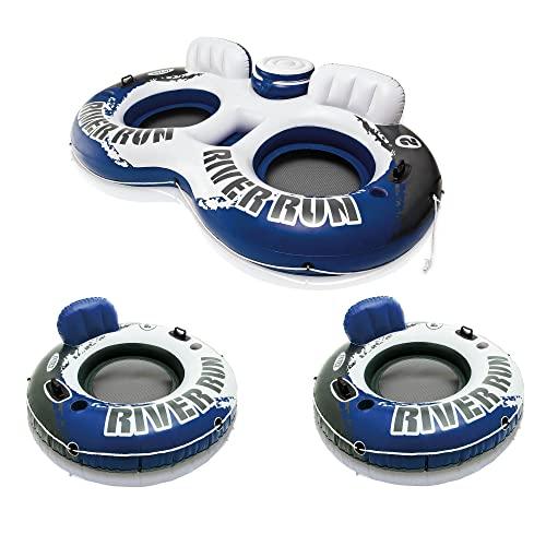 <title>無料ラッピングでプレゼントや贈り物にも 逆輸入並行輸入送料込 フロート プール 水遊び 浮き輪 送料無料 Intex River Run II Inflatable 2 Person Pool 期間限定お試し価格 Tube Float + Single Water Raftsフロート</title>