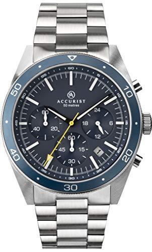 アキュリスト 腕時計 メンズ イギリス ロンドン 【送料無料】Accurist Mens Chronograph Quartz Watch with Solid Stainless Steel Strap 7274アキュリスト 腕時計 メンズ イギリス ロンドン
