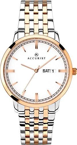 アキュリスト 腕時計 メンズ イギリス ロンドン 【送料無料】Accurist Gents Analogue Quartz Watch with White Ceramic Dial and Sapphire Crystal Glass 7241アキュリスト 腕時計 メンズ イギリス ロンドン