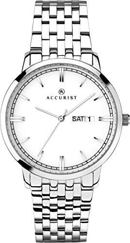 アキュリスト 腕時計 メンズ イギリス ロンドン 【送料無料】Accurist Gents Analogue Quartz Watch with White Ceramic Dial and Sapphire Crystal Glass 7240アキュリスト 腕時計 メンズ イギリス ロンドン