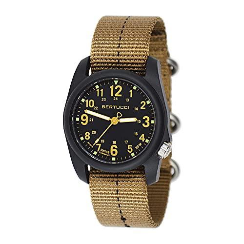 ベルトゥッチ 逆輸入 海外モデル 海外限定 アメリカ直輸入 【送料無料】Bertucci DX3 Field Resin Watch, Dash-Striped Drab Nylon Strap, Black Dial - 11041ベルトゥッチ 逆輸入 海外モデル 海外限定 アメリカ直輸入