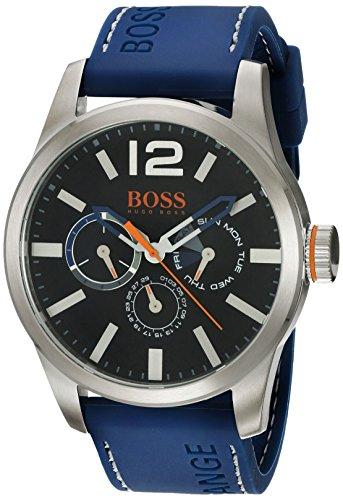 ヒューゴボス 高級腕時計 メンズ HUGO BOSS Orange Men's Quartz Stainless Steel and Leather Casual Watch, Color:Blue (Model: 1513250)ヒューゴボス 高級腕時計 メンズ