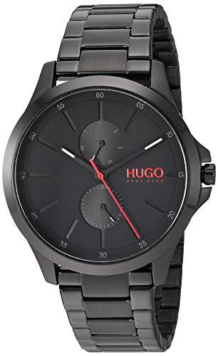 ヒューゴボス 高級腕時計 メンズ 【送料無料】Hugo Men's #Jump Quartz Black IP and Black IP Bracelet Casual Watch, Color: Black (Model: 1530028)ヒューゴボス 高級腕時計 メンズ