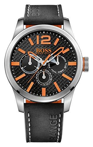 ヒューゴボス 高級腕時計 メンズ BOSS Orange Men's 1513228 PARIS Analog Display Quartz Black Watchヒューゴボス 高級腕時計 メンズ