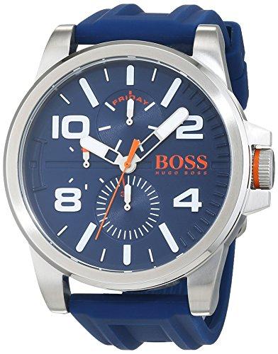 ヒューゴボス 高級腕時計 メンズ 【送料無料】HUGO BOSS Men's Detroit Sport Stainless Steel Quartz Watch with Silicone Strap, Blue, 24 (Model: 1550008)ヒューゴボス 高級腕時計 メンズ