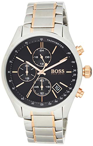 ヒューゴボス 高級腕時計 メンズ 【送料無料】Hugo Boss Grand Prix Black Dial Stainless Steel Men's Watch 1513473ヒューゴボス 高級腕時計 メンズ