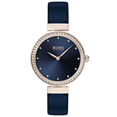 ヒューゴボス 高級腕時計 レディース 【送料無料】Hugo Boss Celebration Steel & Blue Leather Strap Ladies Watchヒューゴボス 高級腕時計 レディース