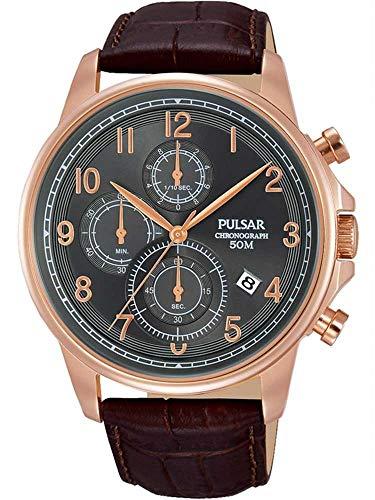 パルサー Brown PM3083X1腕時計 SEIKO メンズ Leather SEIKO Gents セイコー 腕時計 【送料無料】Pulsar メンズ セイコー Chronograph パルサー