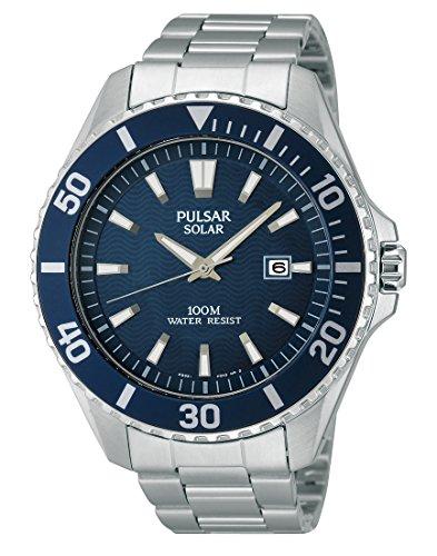 パルサー SEIKO セイコー 腕時計 メンズ 【送料無料】Pulsar Solar PX3033X1 Mens Wristwatch Solid Caseパルサー SEIKO セイコー 腕時計 メンズ