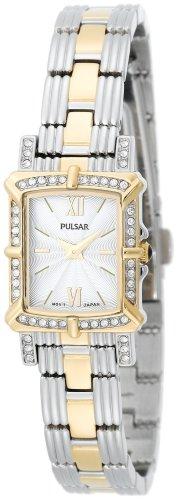 パルサー SEIKO セイコー 腕時計 レディース 【送料無料】Pulsar Women's PEGD38 Swarovski Crystal Collection Two-Tone Watchパルサー SEIKO セイコー 腕時計 レディース