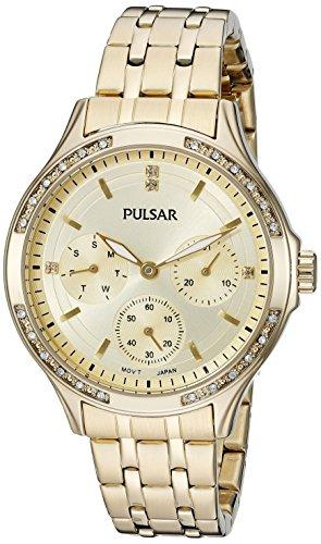 パルサー SEIKO セイコー 腕時計 レディース 【送料無料】Pulsar Women's PP6190 Chronograph Analog Display Japanese Quartz Gold Watchパルサー SEIKO セイコー 腕時計 レディース