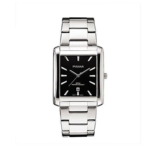パルサー SEIKO セイコー 腕時計 レディース Pulsar PG8267 Unisex Silver Stainless Steel Band Black Quartz Dial Watchパルサー SEIKO セイコー 腕時計 レディース