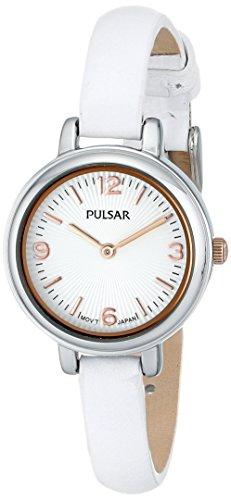 パルサー SEIKO セイコー 腕時計 レディース 【送料無料】Pulsar Women's PM2085 Easy Style Collection Rose Gold-Tone Watch with White Leather Bandパルサー SEIKO セイコー 腕時計 レディース