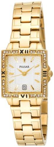 パルサー SEIKO セイコー 腕時計 レディース Pulsar Women's PXT698 Crystal Gold-Tone Watchパルサー SEIKO セイコー 腕時計 レディース