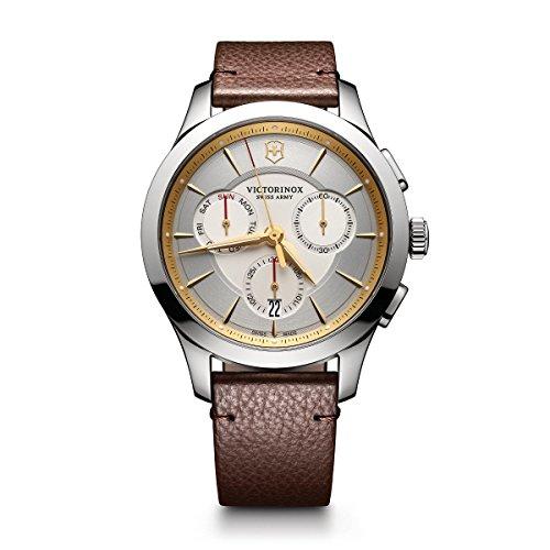 ビクトリノックス スイス 腕時計 メンズ 【送料無料】Victorinox Men's Alliance Stainless Steel Swiss-Quartz Watch with Leather Strap, Brown, 21 (Model: 241750)ビクトリノックス スイス 腕時計 メンズ