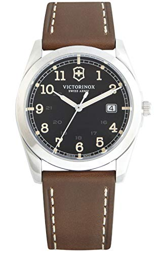 ビクトリノックス スイス 腕時計 メンズ Victorinox Infantry Black Dial Leather Strap Mens Watch 241563XG (Renewed)ビクトリノックス スイス 腕時計 メンズ