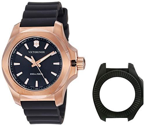 """ビクトリノックス スイス 腕時計 レディース,ウィメンズ 【送料無料】Victorinox Swiss Army Women""""s I.N.O.X. Stainless Steel Swiss-Quartz Rubber Strap, Black, 18 Casual Watch (Model: 241808)ビクトリノックス スイス 腕時計 レディース,ウィメンズ"""