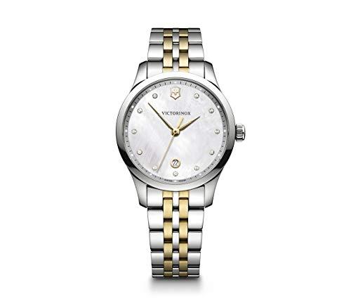 ビクトリノックス スイス 腕時計 レディース,ウィメンズ Victorinox Alliance Small Crystal White Mother of Pearl Dial Two Tone Ladies Watch 241831ビクトリノックス スイス 腕時計 レディース,ウィメンズ