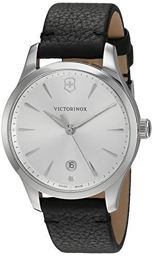 """ビクトリノックス スイス 腕時計 レディース,ウィメンズ 【送料無料】Victorinox Women""""s Alliance Stainless Steel Swiss-Quartz Leather Strap, Black, 17 Casual Watch (Model: 241827)ビクトリノックス スイス 腕時計 レディース,ウィメンズ"""