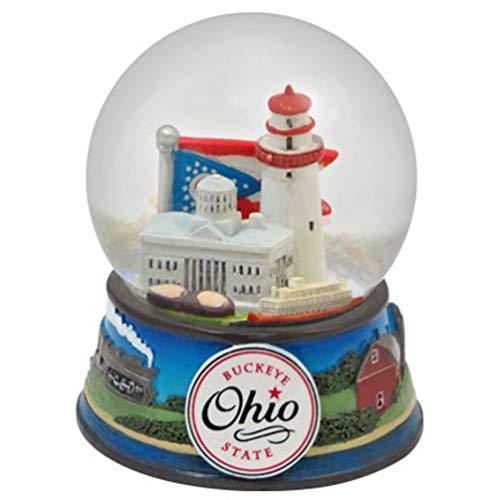スノーグローブ 雪 置物 インテリア 海外モデル Topline Ohio Buckeye State Snow Globe 65mm with Snow - Snow Domeスノーグローブ 雪 置物 インテリア 海外モデル