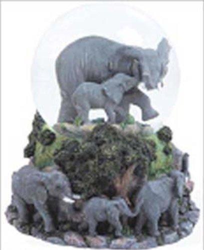 スノーグローブ 雪 置物 インテリア 海外モデル 【送料無料】WLM Elephants Musical Snow Globe - Born Freeスノーグローブ 雪 置物 インテリア 海外モデル