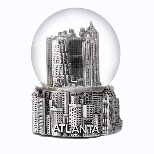 スノーグローブ 雪 置物 インテリア 海外モデル Atlanta Georgia Silver Snow Globe 65mmスノーグローブ 雪 置物 インテリア 海外モデル