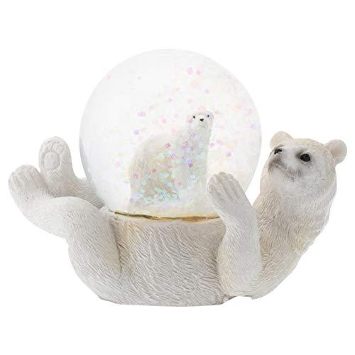 スノーグローブ 雪 置物 インテリア 海外モデル Elanze Designs White Polar Bear Mommy and Cub Figurine 45MM Glitter Water Globe Decorationスノーグローブ 雪 置物 インテリア 海外モデル