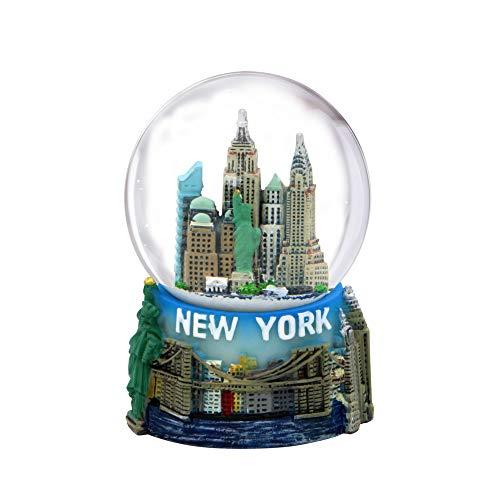 スノーグローブ 雪 置物 インテリア 海外モデル Mini New York City Snow Globe Featuring The NYC Skyline in This Souvenir Figurine with Statue of Liberty, 2.5