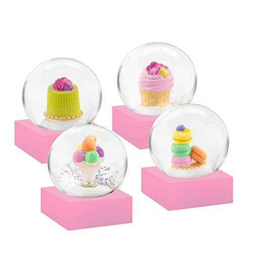 無料ラッピングでプレゼントや贈り物にも 逆輸入並行輸入送料込 スノーグローブ 雪 置物 インテリア 海外モデル 2020A/W新作送料無料 送料無料 Mini Four CoolSnowGlobes Snow 割引 of Globesスノーグローブ Set Desserts
