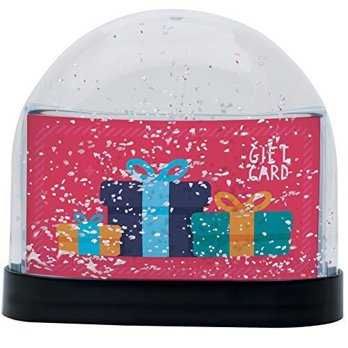 スノーグローブ 雪 置物 インテリア 海外モデル Neil Enterprises Gift Card Snow Globeスノーグローブ 雪 置物 インテリア 海外モデル