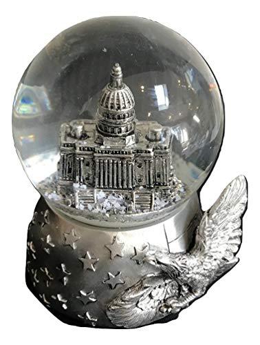 スノーグローブ 雪 置物 インテリア 海外モデル Washington D.C. Capital Snow Globe - 65 mm Silver Toneスノーグローブ 雪 置物 インテリア 海外モデル