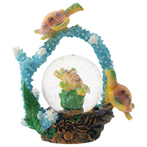 Elanze Designs Mommy Owl and Owlet Figurine 45MM Glitter Water Globe Decoration