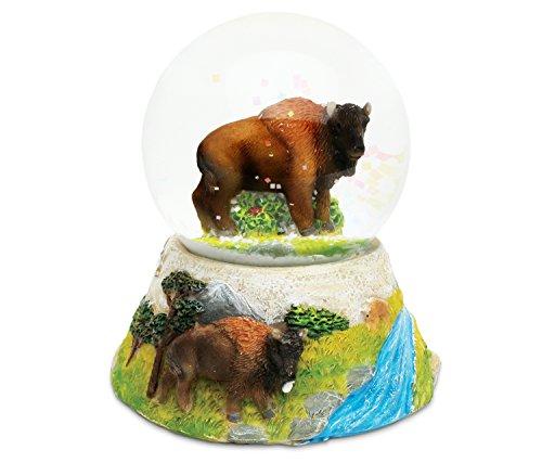 スノーグローブ 雪 置物 インテリア 海外モデル Puzzled COTA Global Buffalo Snow Globe Dome Resin Wild Animal Collection Forest Theme Room Decor Table Top Accent Size: 3.55 x 3.75 inches Unique Gift Decorativスノーグローブ 雪 置物 インテリア 海外モデル