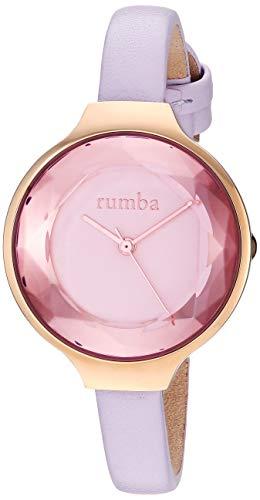 ルンバタイム 腕時計 レディース RumbaTime Women's Orchard Gem Leather Stainless Steel Japanese-Quartz Strap, Purple, 8 Casual Watch (Model: 27556)ルンバタイム 腕時計 レディース