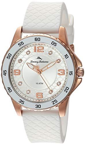 トミーバハマ 腕時計 レディース アメカジ アメリカ 【送料無料】Tommy Bahama Women's Stainless Steel Japanese-Quartz Silicone Strap, White, 18 Casual Watch (Model: 37TB00086-05)トミーバハマ 腕時計 レディース アメカジ アメリカ