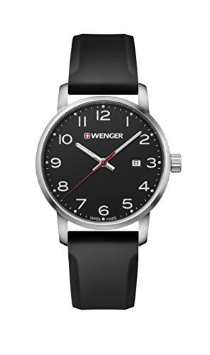 ウェンガー スイス メンズ 腕時計 【送料無料】Wenger Men's Sport Stainless Steel Swiss-Quartz Watch with Silicone Strap, Black, 22 (Model: 01.1641.101)ウェンガー スイス メンズ 腕時計