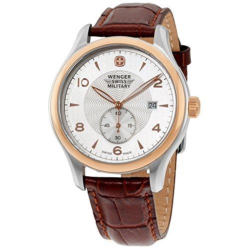 ウェンガー スイス メンズ 腕時計 Wenger Quartz Movement Silver Dial Men's Watch 79313Cウェンガー スイス メンズ 腕時計