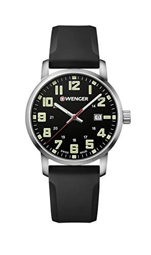 腕時計 ウェンガー スイス メンズ 腕時計 【送料無料】Wenger Men's Sport Stainless Steel Swiss-Quartz Watch with Silicone Strap, Black, 22 (Model: 01.1641.110)腕時計 ウェンガー スイス メンズ 腕時計