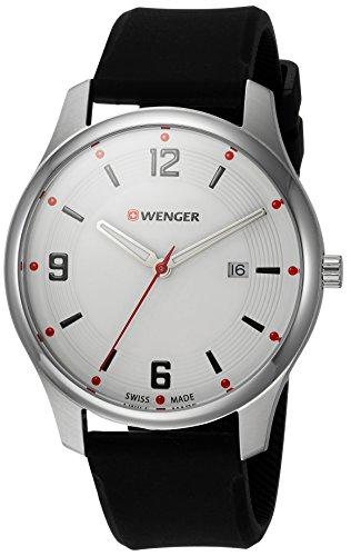 ウェンガー スイス メンズ 腕時計 【送料無料】Wenger Men's City Active Stainless Steel Swiss-Quartz Watch with Silicone Strap, Black, 21 (Model: 01.1441.108)ウェンガー スイス メンズ 腕時計