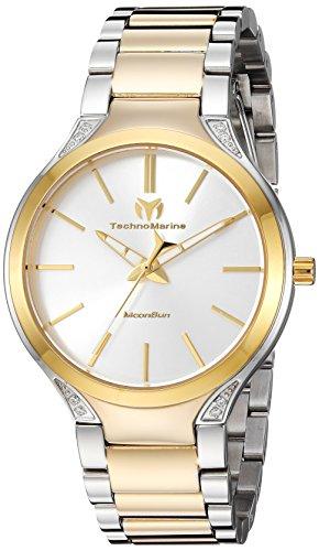 テクノマリーン 腕時計 レディース Technomarine Women's MoonSun Quartz Watch with Stainless-Steel Strap, Two Tone, 20 (Model: TM-117033)テクノマリーン 腕時計 レディース