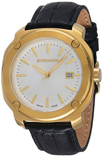 ウェンガー スイス アーミーナイフ メンズ 腕時計 Wenger Men's Analogue Quartz Watch with Leather Strap 01.1141.113ウェンガー スイス アーミーナイフ メンズ 腕時計