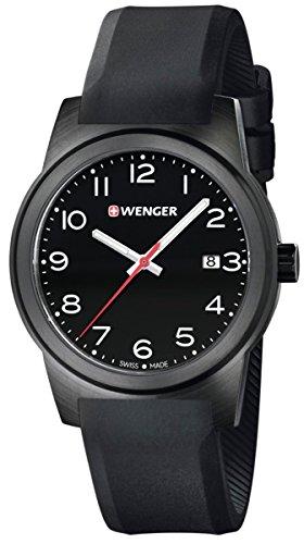 ウェンガー スイス アーミーナイフ メンズ 腕時計 Wenger Field Color Mens Analog Swiss Quartz Watch with Rubber Bracelet 01.0441.151ウェンガー スイス アーミーナイフ メンズ 腕時計